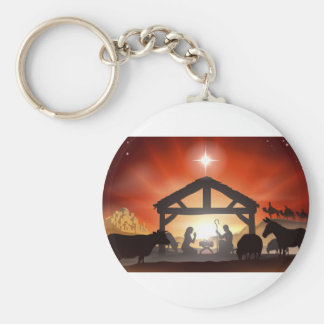 Christmas Nativity Scene Key Chain