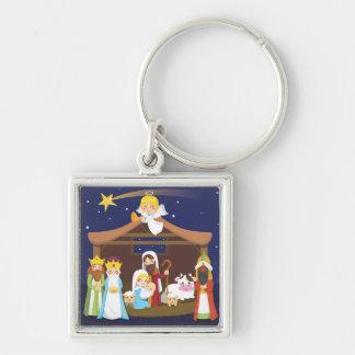 Christmas Nativity Scene Keychain