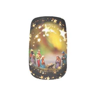 Christmas Nativity Scene Photography Crib Jesus Minx Nail Art