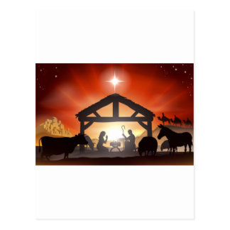 Christmas Nativity Scene Postcards
