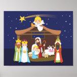 Christmas Nativity Scene Poster
