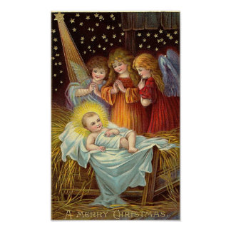 Christmas Nativity Scene Posters
