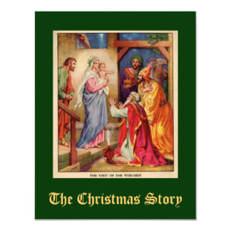 Christmas Nativity Scene Wisemen Card
