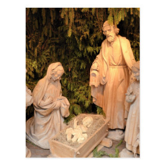Christmas Nativity Scene with the Holy Family Postcard