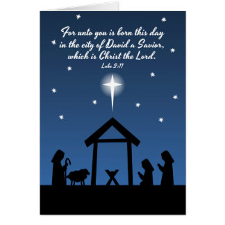 Christmas Nativity Scripture Greeting Card
