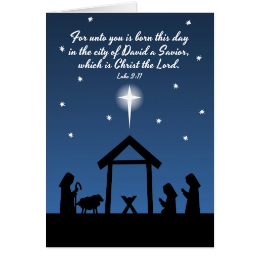 Christmas Nativity Scripture Greeting Card | Zazzle