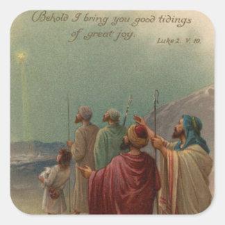 Christmas Nativity Square Sticker