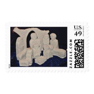 Christmas Nativity Stamp - Irish/Celtic Nativity