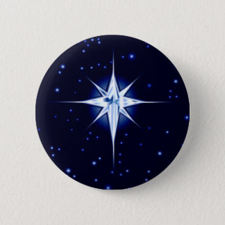 Christmas Nativity Star Pinback Button