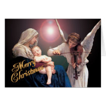 "Christmas nativity ""The Madonna"" religious card"