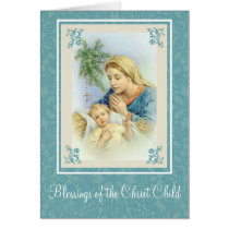 Christmas Nativity Virgin Mary  Baby Jesus Rosary Card
