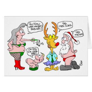 Christmas Naughty List Adult Humor Card