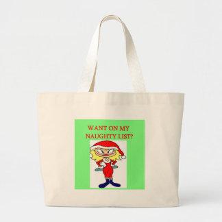 christmas naughty list girl xmas joke bags