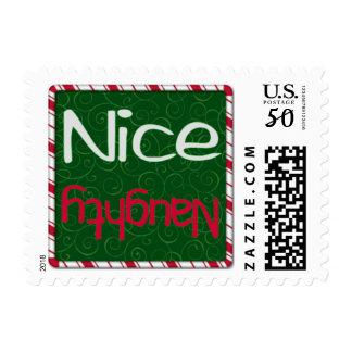 Christmas Naughty or Nice List postage stamp small