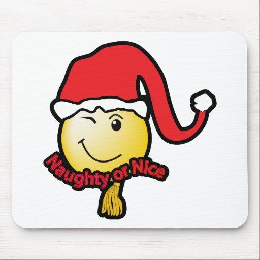 """Christmas """"Naughty or Nice"""" Mouse Pad"""