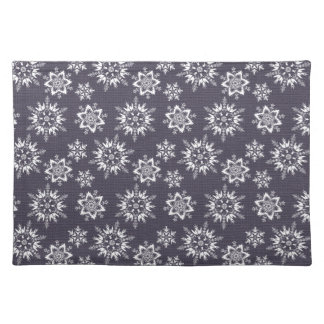 Christmas Navy & White Snowflake Placemats