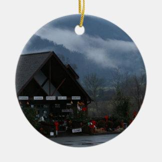 Christmas Near Townsend, Tn. Ceramic Ornament