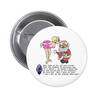 Christmas Negligee Pinback Button