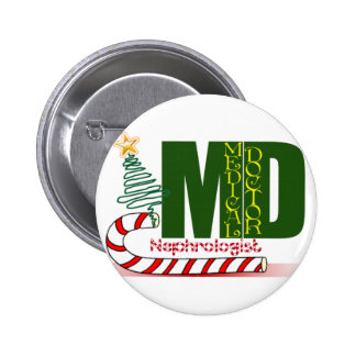 Christmas Nephrologist - Physician Specialist Pinback Button