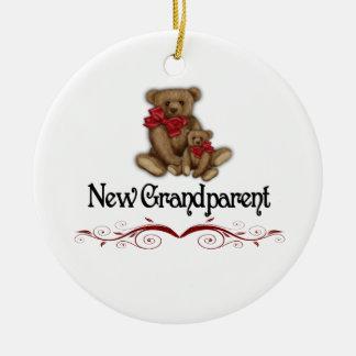 Christmas New Grandparent Ceramic Ornament