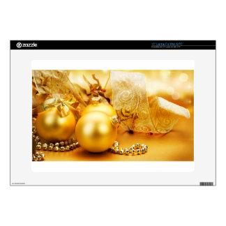 """christmas new year celebration 2014 15"""" laptop skin"""