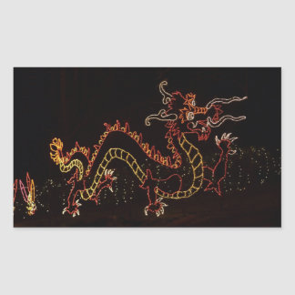 Christmas New Year Dragon  2016 Rectangular Sticker