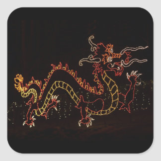 Christmas New Year Dragon  2016 Square Sticker