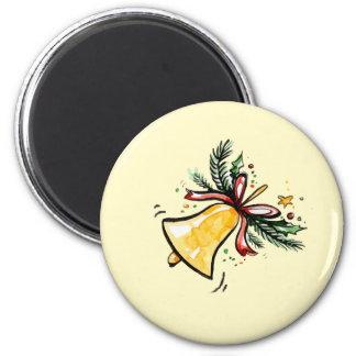 Christmas New Year Gift Yellow Jingle Bell Magnet