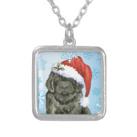 Christmas Newfoundland Silver Plated Necklace