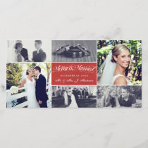 Christmas Newly Weds Merry & Married Photo Collage Holiday Card