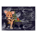 Christmas Niece, night before Christmas mouse Cards