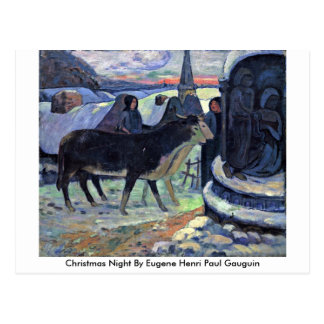 Christmas Night By Eugene Henri Paul Gauguin Postcard