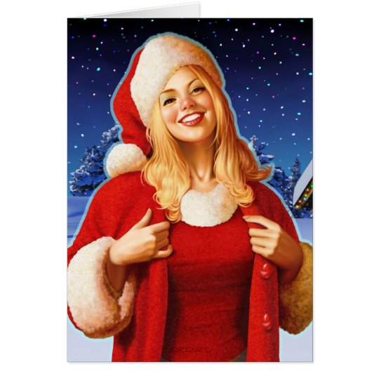 """Christmas Night"" Close Up Card"