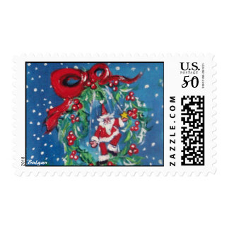 CHRISTMAS NIGHT CROWN WITH RED RIBBON POSTAGE