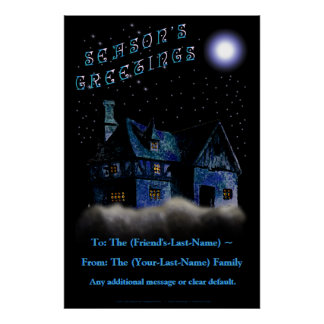 Christmas Night Door-Size Greeting - Personalized Poster
