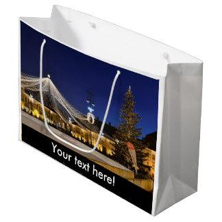 Christmas night in Sibiu, Romania Large Gift Bag