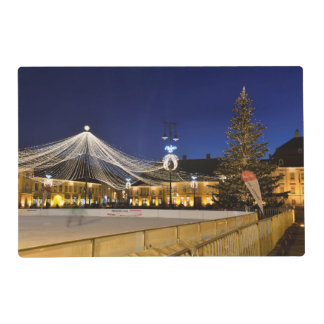 Christmas night in Sibiu, Romania Laminated Placemat