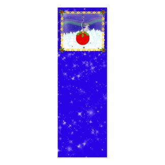 Christmas night mini business card