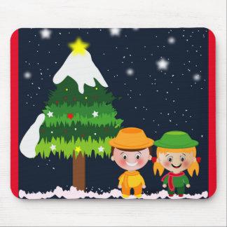 CHRISTMAS NIGHT MOUSE PAD