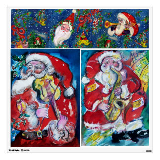 CHRISTMAS NIGHT / MUSICAL SANTA WALL DECAL