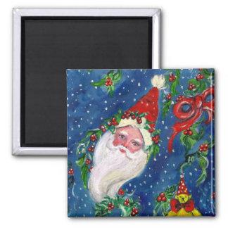 CHRISTMAS NIGHT / SANTA 2 INCH SQUARE MAGNET