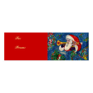 CHRISTMAS NIGHT / SANTA BUGLER Double-Sided MINI BUSINESS CARDS (Pack OF 20)