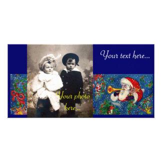 CHRISTMAS NIGHT / SANTA BUGLER PHOTO CARD