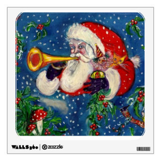 CHRISTMAS  NIGHT / SANTA  BUGLER WALL STICKER