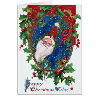 CHRISTMAS NIGHT / SANTA GREETING CARD