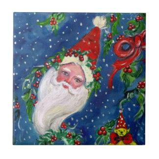 CHRISTMAS NIGHT / SANTA CLAUS CERAMIC TILE