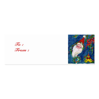 CHRISTMAS NIGHT / SANTA CLAUS Double-Sided MINI BUSINESS CARDS (Pack OF 20)