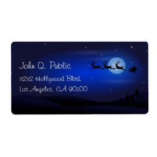 Christmas Night Santa Claus is Coming Tonight Label