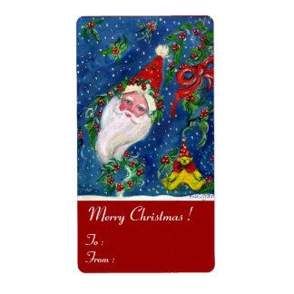 CHRISTMAS NIGHT / SANTA CLAUS SHIPPING LABEL