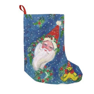 CHRISTMAS NIGHT /SANTA CLAUS SMALL CHRISTMAS STOCKING